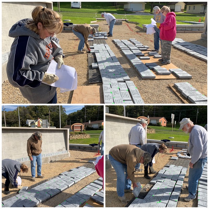 Volunteers Sorting Pavers