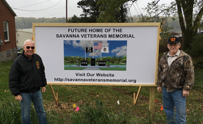 Home of the Savanna Veterans Memorial
